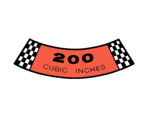 Decal - Air Cleaner - 200 Cubic Inches - Comet & Montego