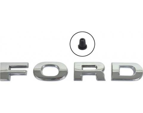 Ford Pickup Truck Hood Letters - FORD In Block Letters - F500