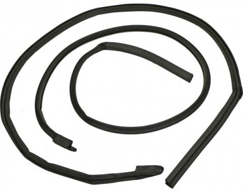 Ford Mustang Roof Rail Seals - Rubber - Fastback