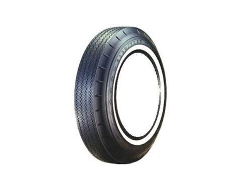 Tire, 800 X 14, 1 Whitewall, Tubeless, Goodyear Custom Super Cushion, 1961-64