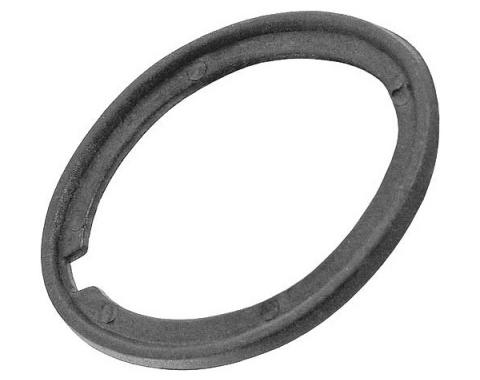 Ford Mustang Trunk Lock Cylinder Pad - Black Vinyl - Fits On Sleeve