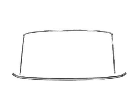 Ford Mustang Windshield Moulding Set - Bright Metal - Coupe& Fastback