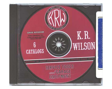 Model T Ford K. R. Wilson Service Tools & Garage Equipment - 6 Catalogs On A CD-ROM Disc - In PDF Format