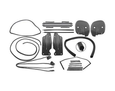 Ford Mustang Weatherstrip Kit - Coupe - Includes 9 Seals