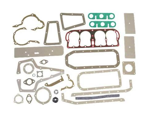 Model T Complete Motor & Transmission Gasket Set, 31-Piece With Self-Sealing Silicone-Coated Head Gasket, 1909-1927
