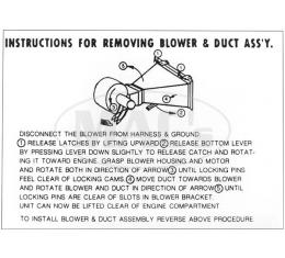 Heater Instruction Decal - Ford