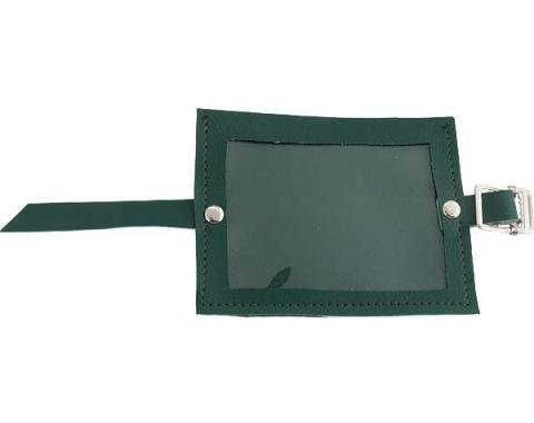Registration Holder - Green Vinyl With A Clear Plastic Window - 3-3/4 X 5
