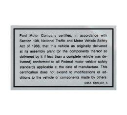 Safety Act Decal