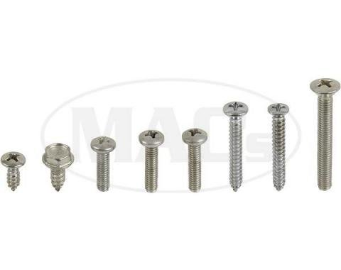 Exterior Screw Kit (53 Pieces), Galaxie, 1963-1964