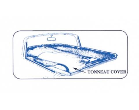Ford Thunderbird Tonneau Cover, White, 1955-56