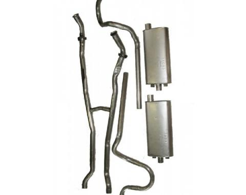 Exhaust System, Without Resonators, 430, 1959-60 T