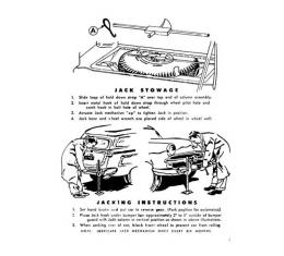 Jack Decal - Jack Instructions - Ford Station Wagon