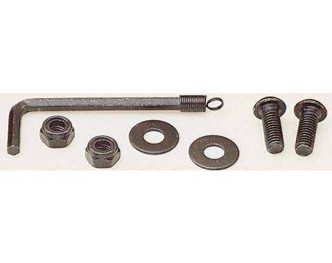 Black License Plate Fastener Kit