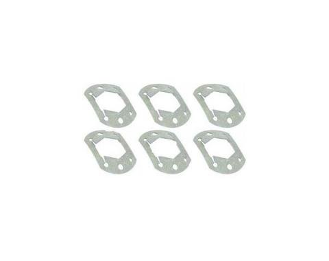 Brake Drum Retainers - Push-On Type - Green - 6 Pieces - Ford