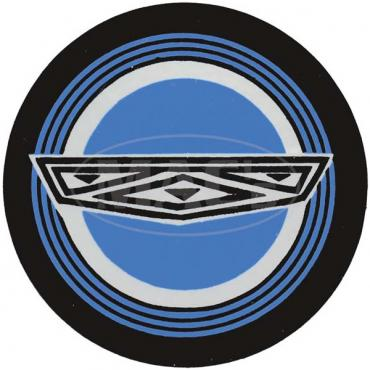 Ford Mustang Decal - Wire Wheel Center - Blue