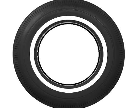 Tire, 800 X 14, 1 Whitewall, Tubeless, BF Goodrich, 1961-64