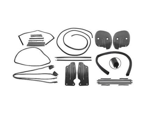 Ford Mustang Weatherstrip Kit - Convertible - Includes 9 Seals