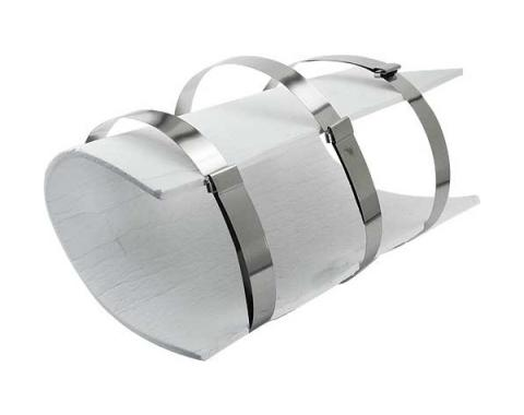 Model T Ford Muffler Cover Wrap Kit - Stainless Steel BandsWith Non-Asbestos Like Material
