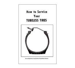 Tubeless Tire Instruction Folder - Ford