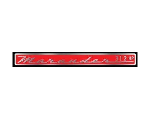Valve Cover Decal - Marauder 312 Horsepower - Mercury