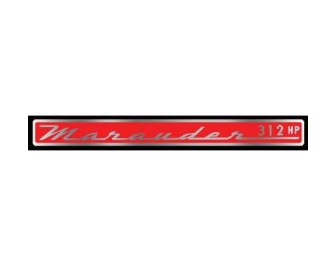 Valve Cover Decal - Marauder 312 Horsepower - Mercury