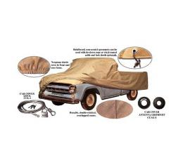 Pickup Truck Cover - Tan Flannel - Pickup With Standard Short Bed