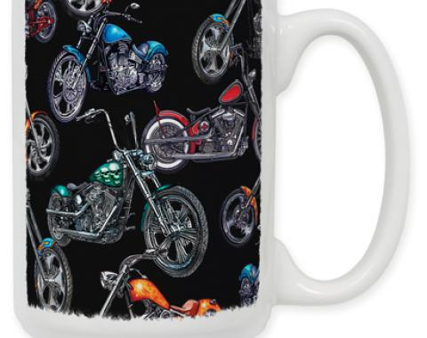 Choppers & Skulls Black Coffee Mug
