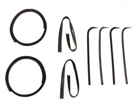 Precision Beltline Molding and Glass Run Channel Kit, Left and Right Hand, 6 Piece Kit, All Black WFK 2111 67