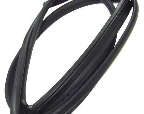 Precision Sedan Models-Rear Window Weatherstrip Seal, With Trim Groove for Steel Trim WCR DB3134