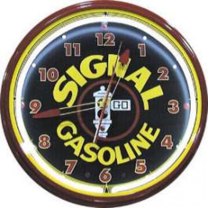 Neon Clock, Signal Gasoline, 20 Inch