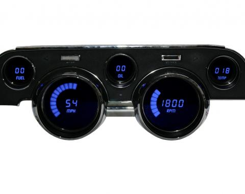 Intellitronix 1967-1968 Ford Mustang LED Digital Gauge Panel DP7002