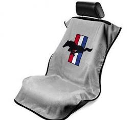 Seat Armour Mustang Pony, Seat Towel, Grey with Logo SA100MUSG