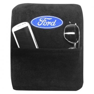 Seat Armour Ford Explorer 2010-2016,  Only,  Konsole Cover™ with Pocket, Black, KAFORX10-15