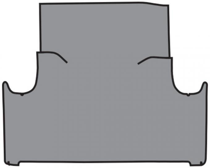 ACC  Ford Falcon 2DR/4DR Sedan Trunk Mat Fleece, 1960