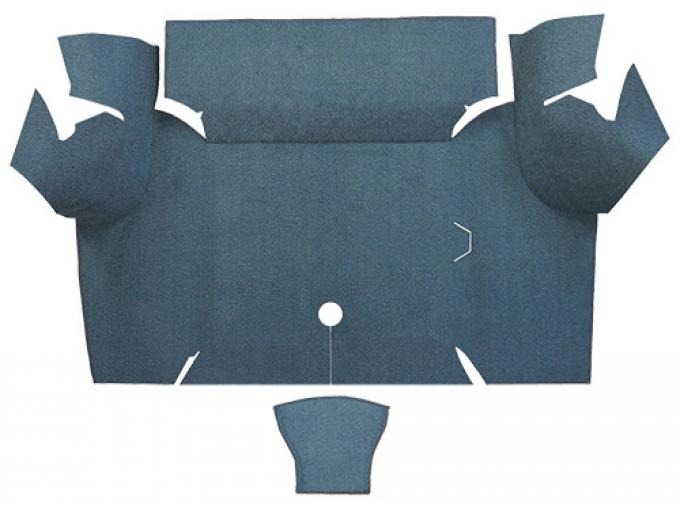 ACC  Ford Mustang Coupe Trunk Kit Floor Only Trunk Mat Loop, 1967-1968