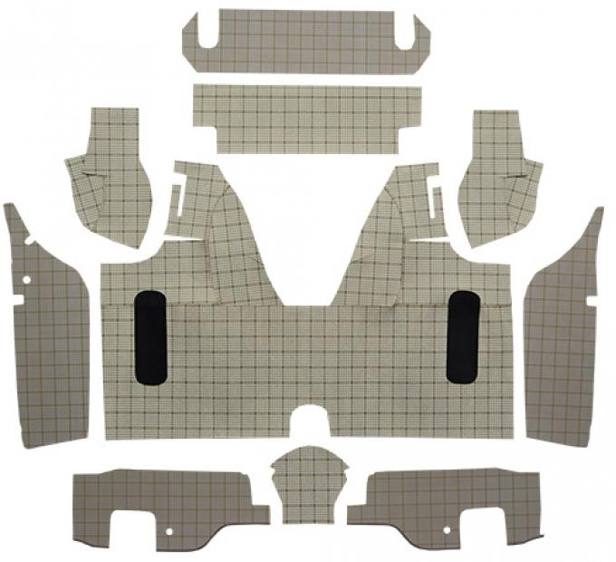ACC  Ford Thunderbird Trunk Mat Convertible with Boards Fleece, 1958-1959