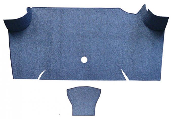 ACC  Ford Mustang Fastback Trunk Kit Floor Only Trunk Mat Nylon, 1967-1968