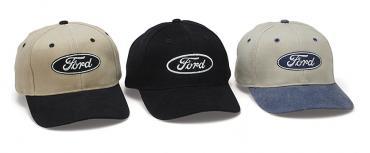 Ford Hat, Oval Logo, Black/Khaki