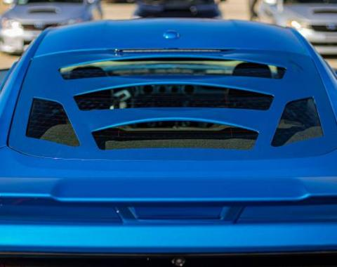 GlassSkinz 2015-2020 Mustang Tekno 3 Rear Window Valance / Louver TEKNO3S550