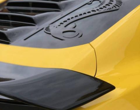 GlassSkinz 2015-2020 Mustang  Tekno 1 rear window valance / louver TEKNO1S550