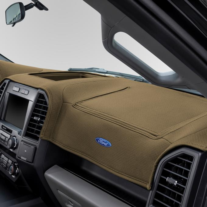 Covercraft 2015-2020 Ford F-150 Ford Official Licensed Limited Edition Custom DashMat, Beige 62092DF24-01-23