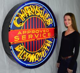 Neonetics Big Neon Signs in Steel Cans, Chrysler Plymouth 36 Inch Neon Sign in Metal Can