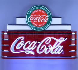 Neonetics Big Neon Signs in Steel Cans, Art Deco Marquee Coca-Cola Neon Sign in Steel Can
