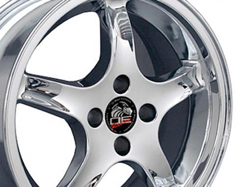 """17"""" Fits Ford - Mustang 4-Lug Cobra R Wheel - Chrome 17x8"""