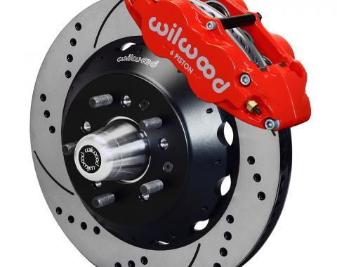 Wilwood Brakes Forged Narrow Superlite 6R Dust-Seal Big Brake Front Brake Kit (Hub) 140-15407-DR