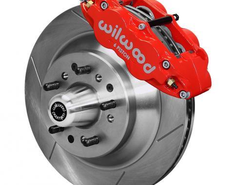 Wilwood Brakes Forged Narrow Superlite 6R Big Brake Front Brake Kit (Hub and 1PC Rotor) 140-13654-R