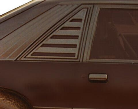 Mustang Side Window Louver, Black ABS Textured, 1979-1987
