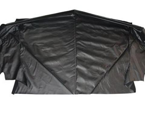 Acme Auto Headlining 1994-2004 Ford Mustang Convertible Top Well Liner, Black W249