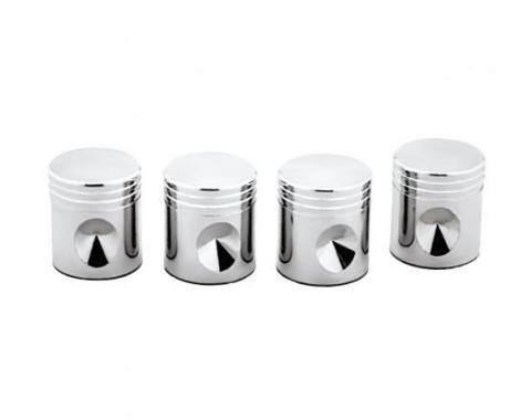 United Pacific Chrome Piston Valve Caps (4 Pack) 70031