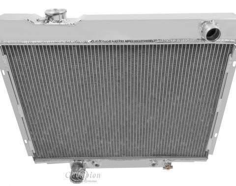 Champion Cooling 4 Row All Aluminum Radiator Made With Aircraft Grade Aluminum MC2379